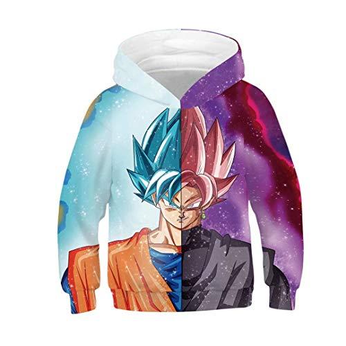 Toddler Girls Boys Dragon Ball 3D Print Pullover Hoodie Sweatshirt -
