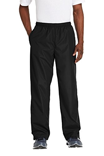 Sport-Tek Men's Wind Pant XL Black from Sport-Tek