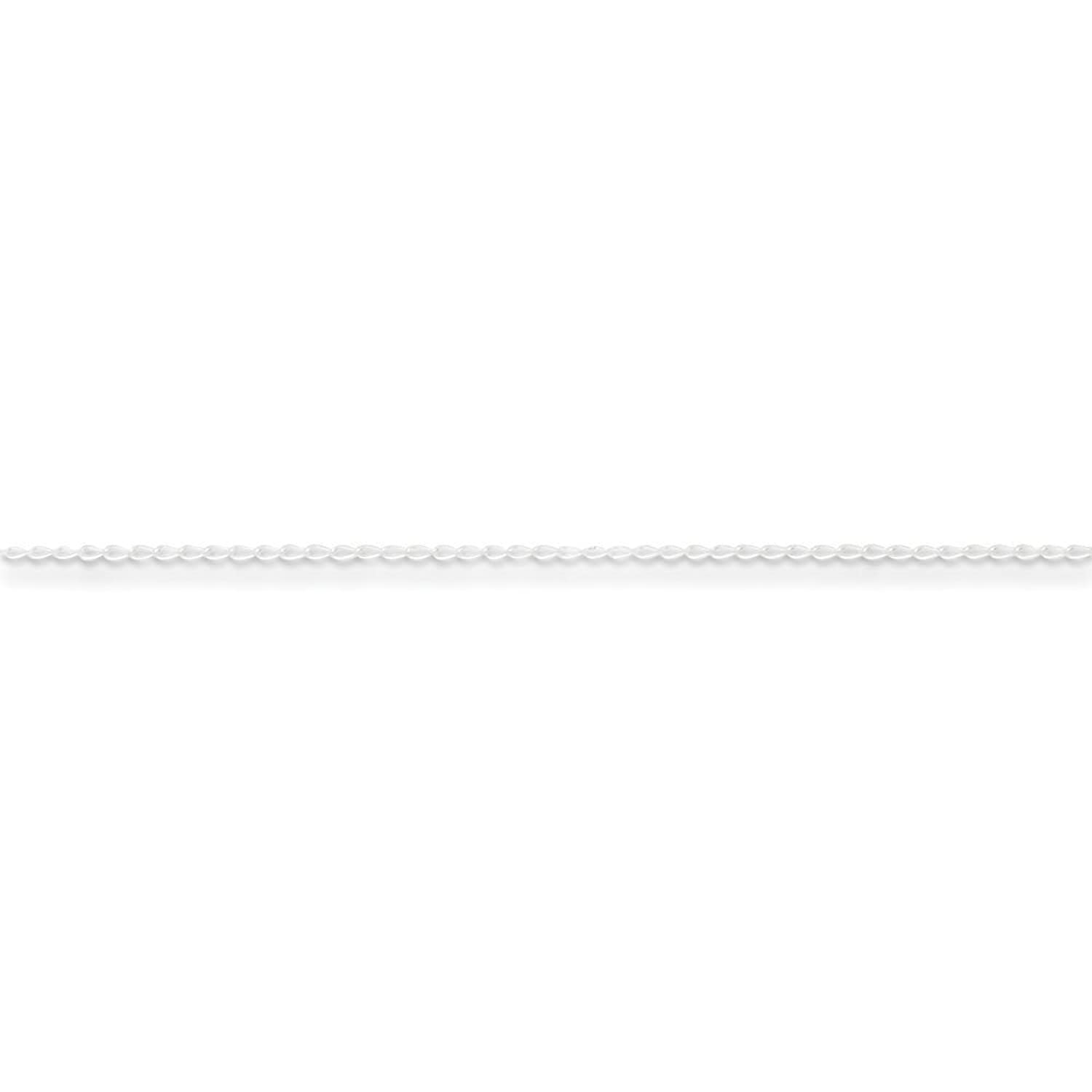 .925 Sterling Silver 1.00MM Open Curb Link Anklet Bracelet, Available in 9 & 10 Inches