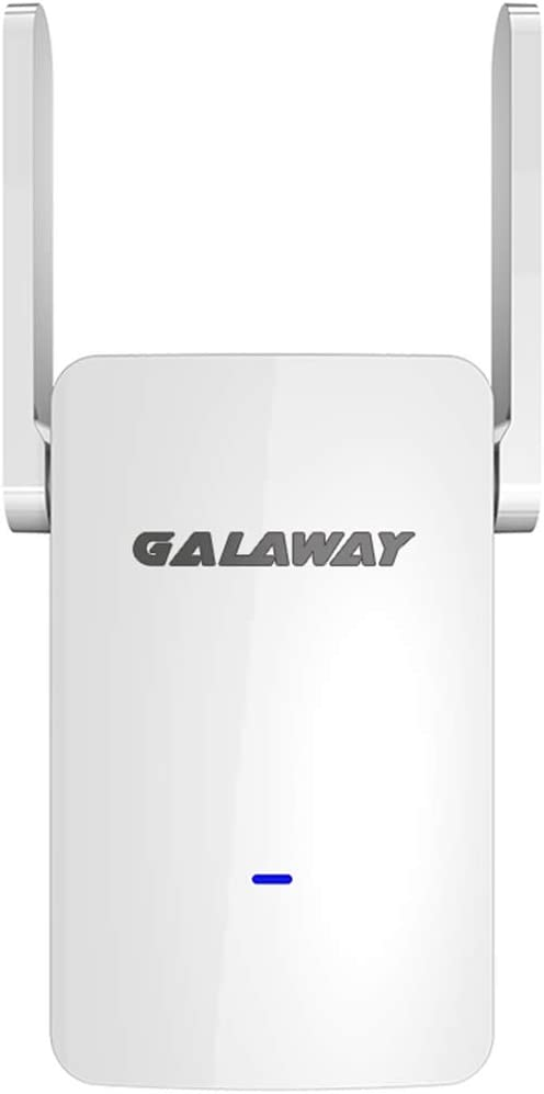 GALAWAY S1200 WiFi Range Extender, 1200Mbps Wireless Extender WiFi Booster Dual External Antennas Amplifier with 2.4GHz & 5GHz Dual Band, Universal Com (White)