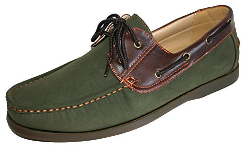 11 Nubukleder schnüren sich Herren Khaki Größen 7 Loafer Bootsdeck Faux Schuhe Kühler qFfnw6Z