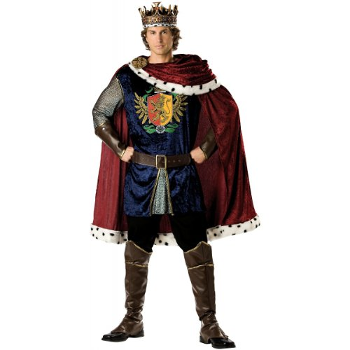 InCharacter Costumes Men's Noble King Costume, Burgundy/Blue, (King And Queen Costume)