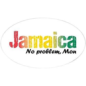 Cafepress jamaica no problem tri sticker oval oval bumper sticker euro oval car decal