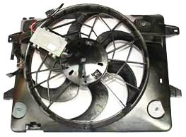 TYC 621290 Ford/Mercury Replacement Radiator/Condenser Cooling Fan Assembly