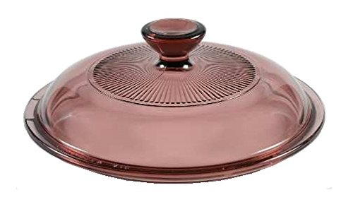 Cranberry Circa (Corning Ware / Pyrex Cranberry Round Glass Lid ( Ribbed ) ( 5 7/8