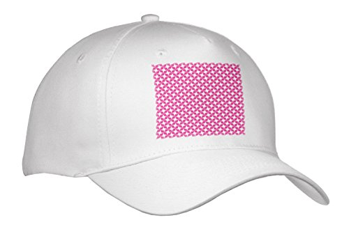 3dRose Anne Marie Baugh – Pattern – Pink and White Chinese Stars Pattern – Caps