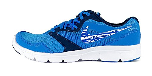 Nike Boys' Flex Experience 3 (GS) Running Shoes, Red, M Blue / White (Photo Blue / White-midnight Navy)