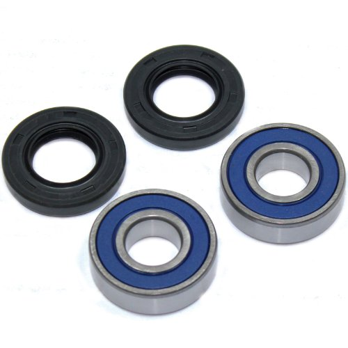 Caltric FRONT WHEEL BALL BEARINGS & SEALS KIT Fits SUZUKI DL650 DL-650 V-STROM 650 2004 2005 2006 2011 ()