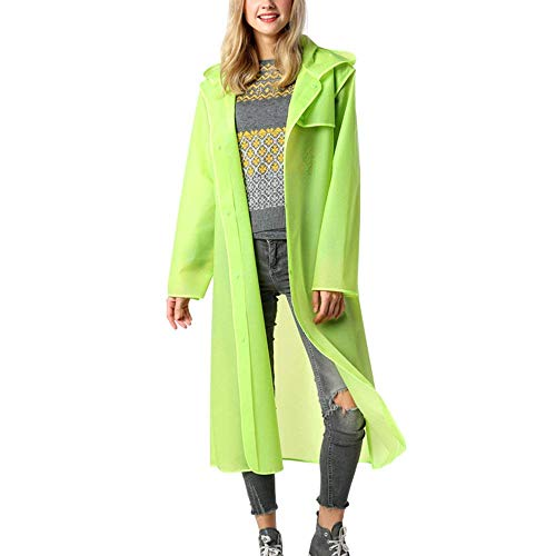 BoBo Lily Giacca Impermeabile Donna Adulto Outdoor Joggers Pioggia Impermeabile Trenchcoat Pioggia Camping Pioggia Poncho Poncho Pioggia Cape
