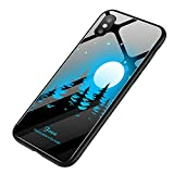 Fashion Design iPhone XS Case,JDgoods Explosion Proof Painted Tempered Glass Cover Case For iPhone XS 5.8inch (C)