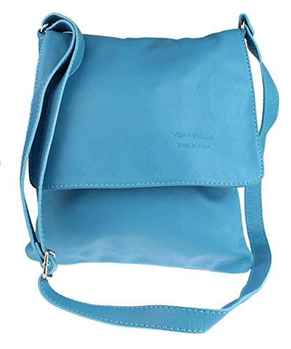 Damen Schultertasche blau hellblau Girly HandBags x73I6