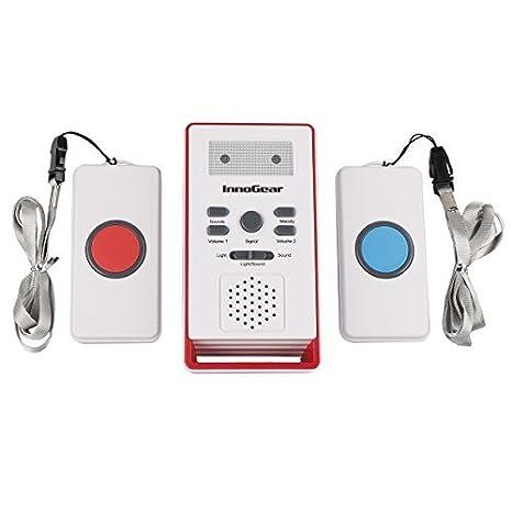 InnoGear ® Wireless Uno remoto de dos botones de llamada ...