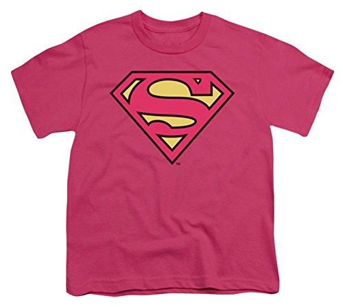 (DC Comics Supergirl Kids Pink Symbol T-Shirt)