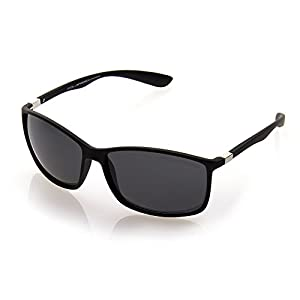 NYS Collection Eyewear Revere Plastic Sunglasses (Black, Black)