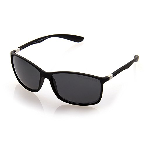 NYS Collection Eyewear Revere Plastic Sunglasses (Black, - Eyewear Nys