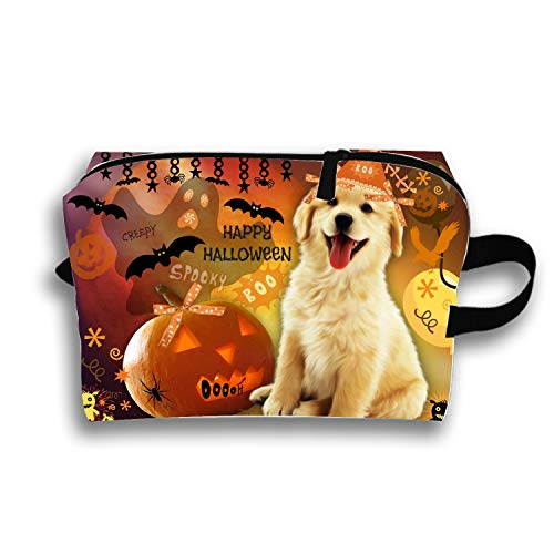 Personalized Make Up Bag Customize Cute Halloween Puppy Cosmetic Pouch ()