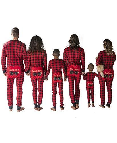 Plaid Bear Cheeks Flapjacks Baby Flapjack Onsie Pajamas by LazyOne | Adult Kid Infant Dog Family Matching Pajamas (12 MO)