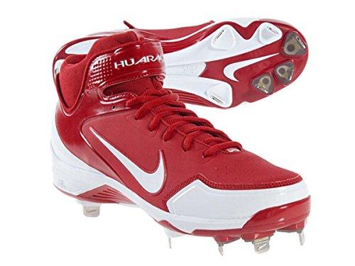 Nike Air Huarache 2KFresh Men's Red and White Baseball Cl...