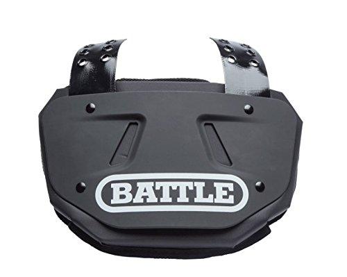 (Battle Chrome Football Back Bone Back Plate Black/White Chrome, Adult)