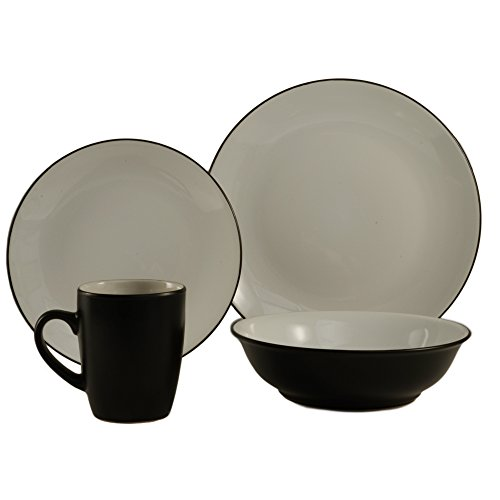 CAC China ColorUs 113034 Cleon 16 Piece Round Stoneware Dinn
