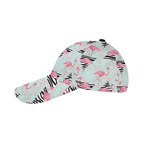 (Unique Debora Custom Baseball Cap Adjustable Buckle Strap Pink Flamingos Zebra)