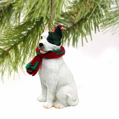 (Pit Bull Terrier Miniature Dog Ornament - White)