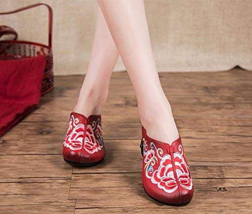 KPHY Damenschuhe Hausschuhe Sommer-Mode Tragen Coole Coole Coole Schuhe Die Wind Echtes Leder Nahen Heels Baotou Semi-Hausschuhe.39 Gelb bac35d