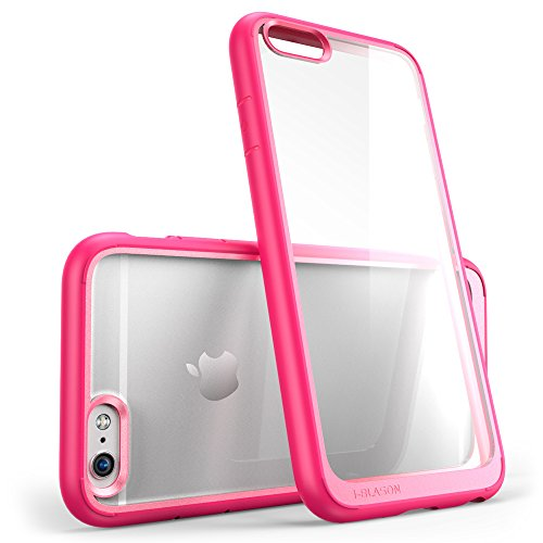 iPhone 6s Case, [Scratch Resistant] i-Blason Clear [Halo Series] Also Fit Apple iPhone 6 Case 6s 4.7 Inch Hybrid Bumper Case Cover (Clear/Pink) Clear Pink Case