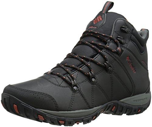 Columbia Men's Peakfreak Venture Mid Waterproof Omni-heat Hiking Boot, Black, Sanguine, 10 D US