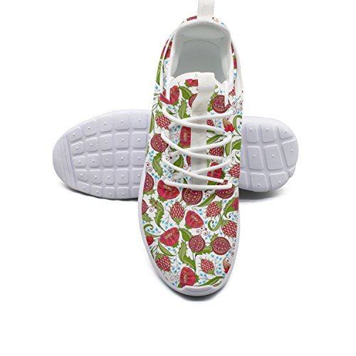 FUFGT Beautiful Pomegranate Flowers Womens Cool Running Shoes Custom Comfortable