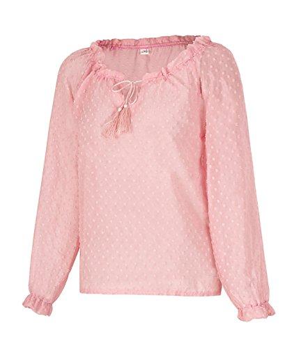 JOTHIN 2018 Tinta Unita Larghi Top Manica Lunga Collo V T-Shirt Spalle Scoperte Sexy Magliette Eleganti Casual Bluse Donna
