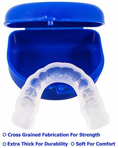 TUFF BRUX Bruxism Custom Made Teeth Grinding Guard - Extra Thick Soft Custom Teeth Night Mouth Guard For Teeth Grinding and Clenching - Bite Splint Teeth Guard by Teeth Armor