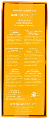 Nippon Kodo - Morning Star - Amber 200 Sticks and Holder - incensecentral.us