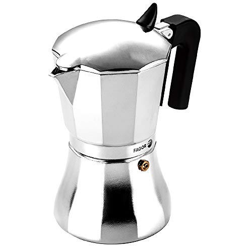 Fagor CUPY. La cafetera CUPY está Fabricada en Aluminio Extra Grueso. Pomo y Mangos Fabricados en Nylon Muy Resistente…