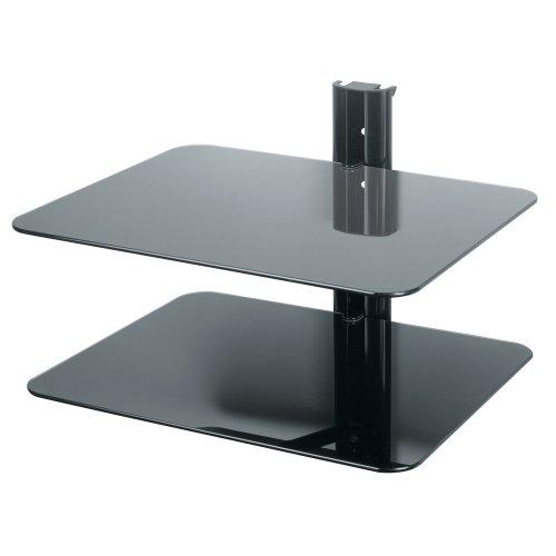 avf es250be wall mounted av component shelving system 2 shelves black