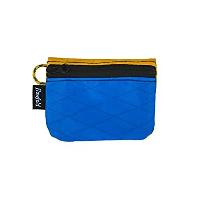 Flowfold Women's Mini Coin Purse Zipper Pouch Wallet - Light Weight - Made in the USA Blue Size: Small