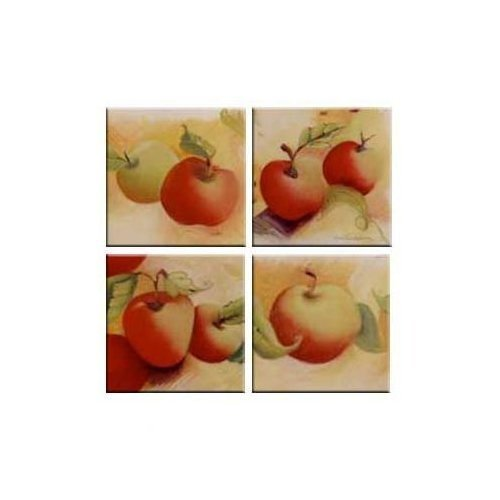 Tuftop Apples - McGowan TT00530 Tuftop Apples Coasters Set of 4