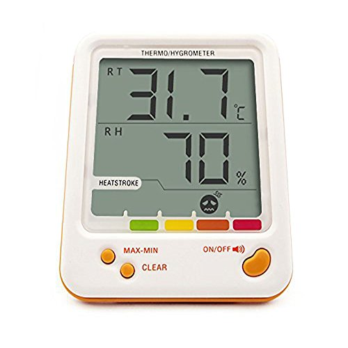 Clock + LCD Digital Hygrometer Humidity Thermometer Temperature Meter In/Outdoor - 5