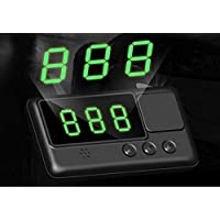 Kingneed GPS Vehicle Speed Head-Up Display, Speedometer Tracker with driving time and distance display.