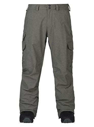 Burton Men's Cargo Snow Pant Relaxed Fit, Shade Heather W19, XX-Large