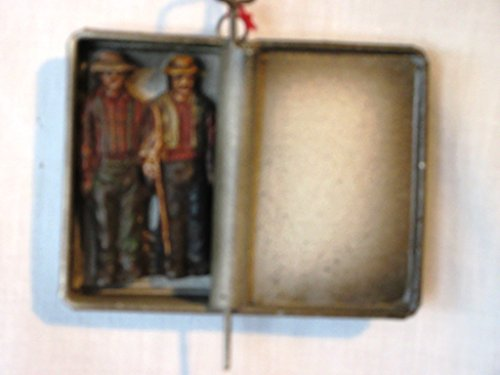 Midwest of Cannon Falls Sardine Can with Fishermen in it Ornament