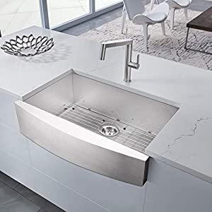 41NhWBbN-IL._SS300_ 75+ Beautiful Stainless Steel Farmhouse Sinks For 2020