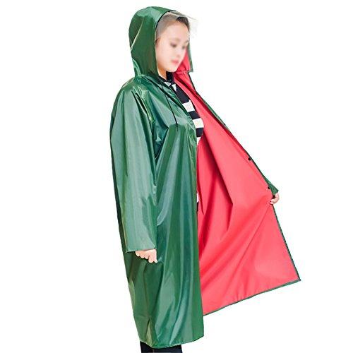 Militare Green Maniche Impermeabile Jinrong Army Poncho Lungo Verde Unico Moda Trekking Con Outdoor Siamese Unisex Xwngwq6SP
