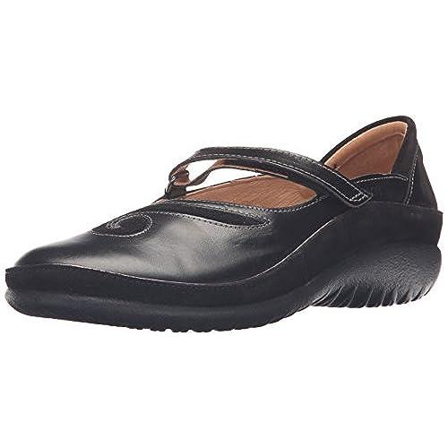 Naot Womens Matai Black Madras Mary-Jane Flats/Shoes US 8/EU 39