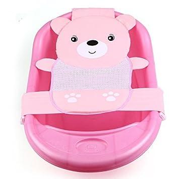 EQLEF/® Neugeborene Baby-Badesitz Unterst/ützung Net Badewanne Sling rosa