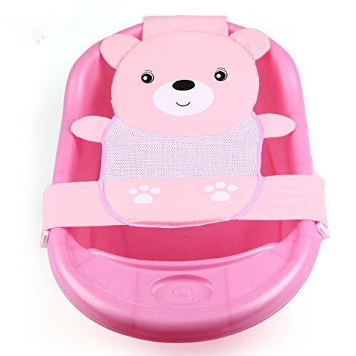 EQLEF® Newborn Baby Bath Seat Support Net Bathtub Sling, pink