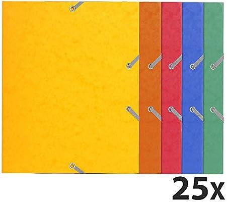 Exacompta 55200E - Pack de 25 carpetas con goma, A5-24X19CM ...