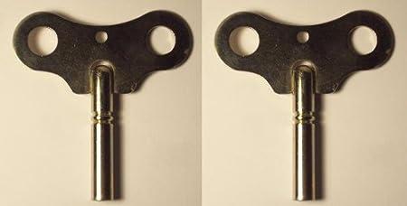 Clock Winding Key #7//4.00mm 3 Key Set of Hermle Seth Thomas #3//3.00mm and #7//4.00mm Crank Key Howard Miller Hamilton Ridgeway
