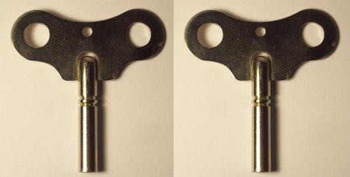 2 Key Set of Hermle, Hamilton, Ridgeway, Howard Miller, Seth Thomas, Clock Winding Key #7/4.00mm and #3/3.00mm