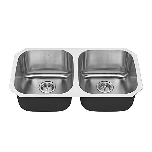 American Standard 18DB.9311800S.075 Portsmouth Undermount 32x18 Double Bowl Kitchen Sink Stainless Steel